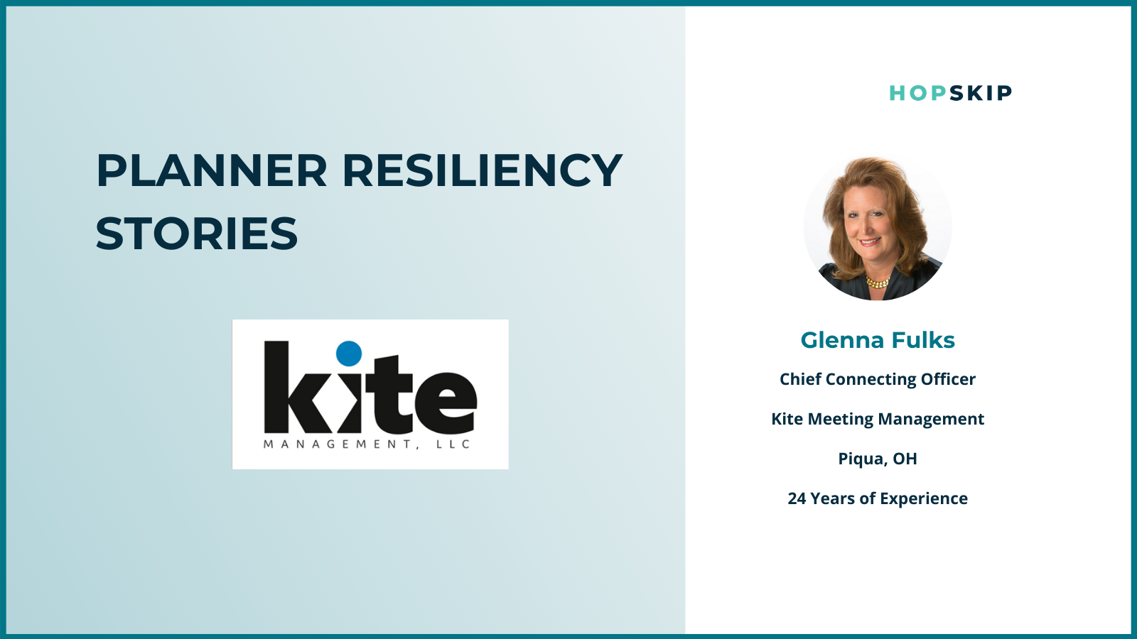 Glenna Fulks from Kite Meeting Management talks about how she displayed resilience during COVID-19