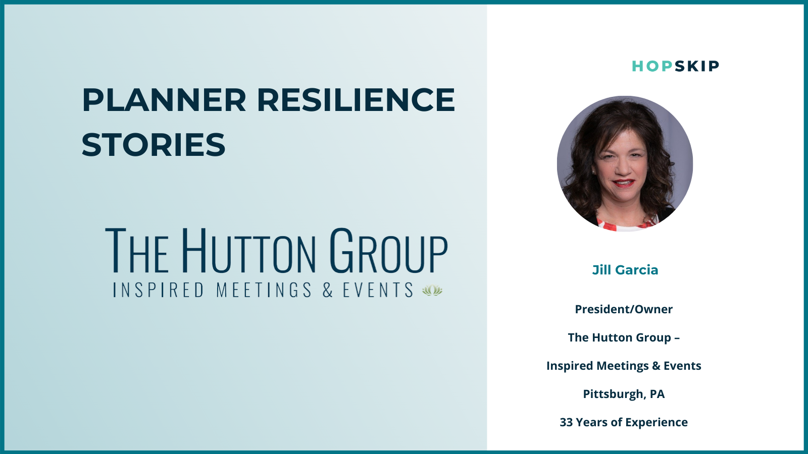 Jill Garcia former Helms Briscoe meeting planner now owner of the Hutton Group