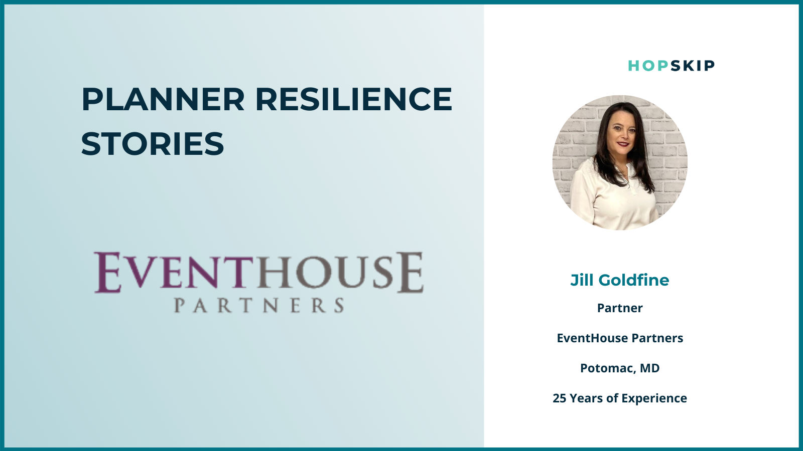 Jill Goldfine, of EventHouse Partners, a third party meeting and planning company