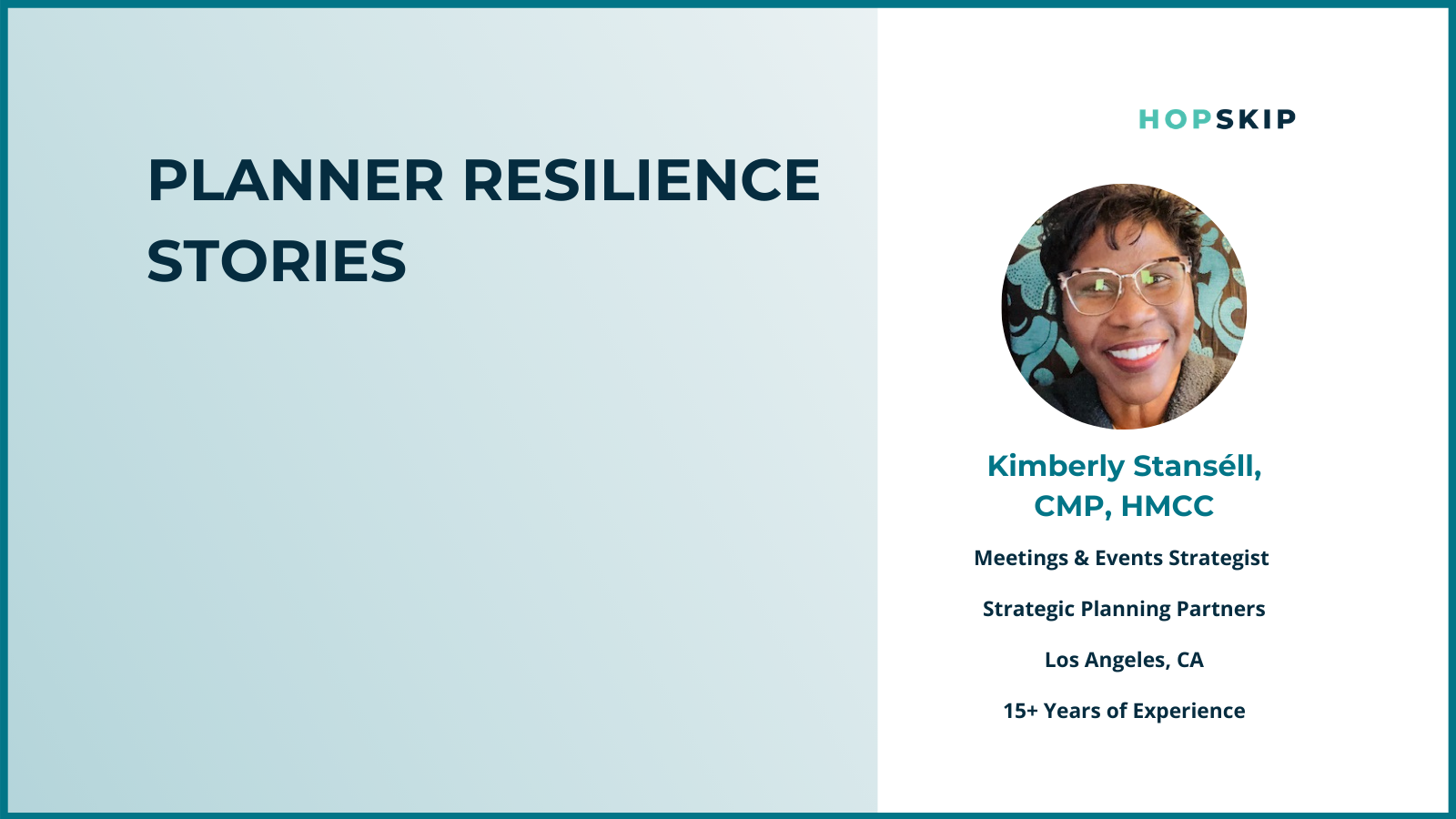 Planner resilience spotlight of Kimberly Stansell of Strategic Planning Partners