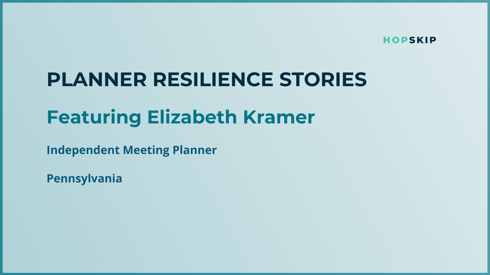 Liz Kramer, showing how resilient she is during COVID-19