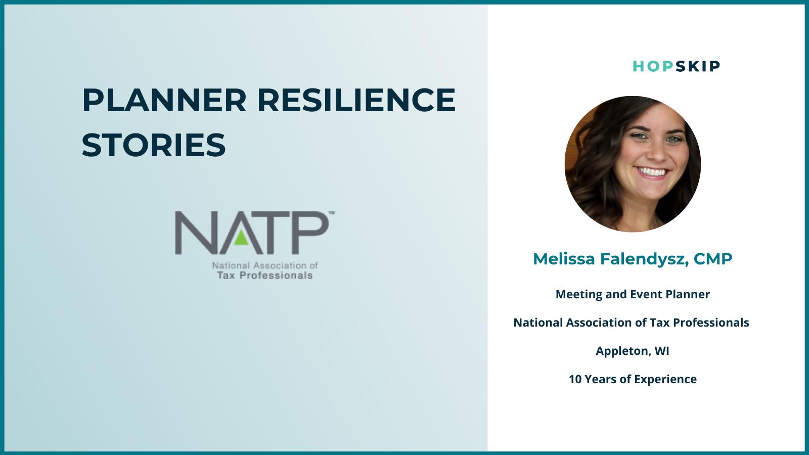 Melissa Falendysz, NATP HopSkip Planner Resilience Spotlight Series